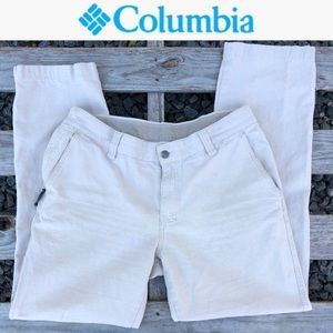 Columbia taupe pants with size zipper size 34/32